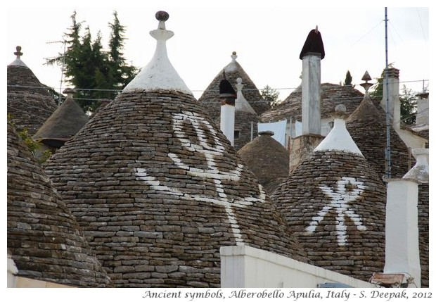 Ancient symbols on trulli of Alberobello - S. Deepak, 2012