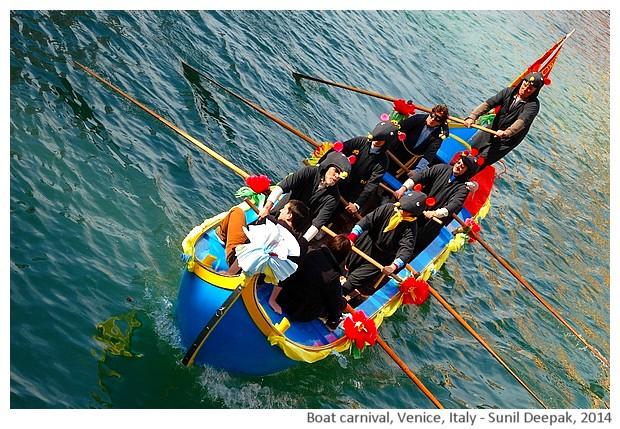 Carnival boats, Venice, Italy - Sunil Deepak, 2014