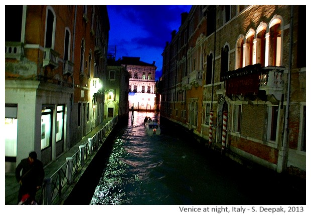 Canals of Venice at night, Italy - S. Deepak, 2013