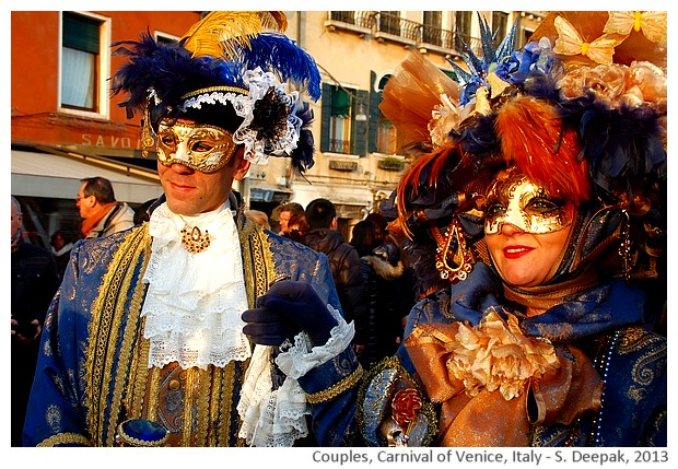 Colourful couples at Venice carnival, Italy - S. Deepak, 2013