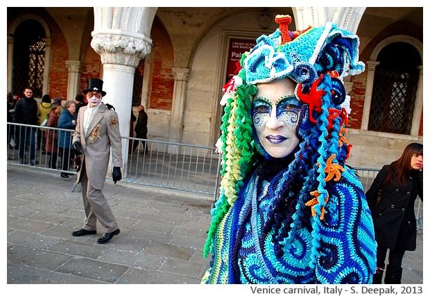 Colourful costumes, Venice carnival, Italy - S. Deepak, 2013