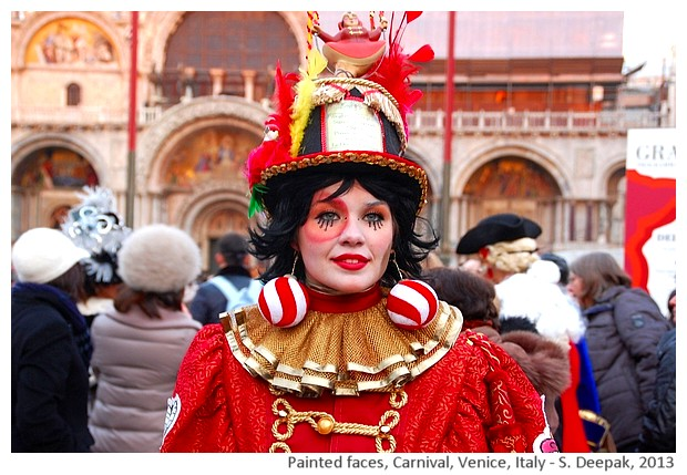 Costumes & painted faces, Venice carnival, Italy - S. Deepak, 2013