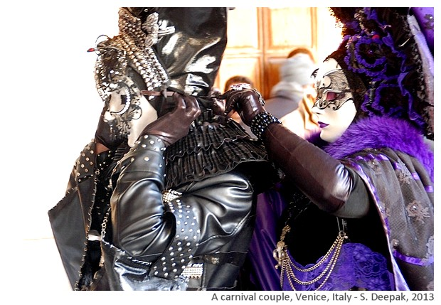 A purple & black couple, Carnival, Venice, Italy - S. Deepak, 2013