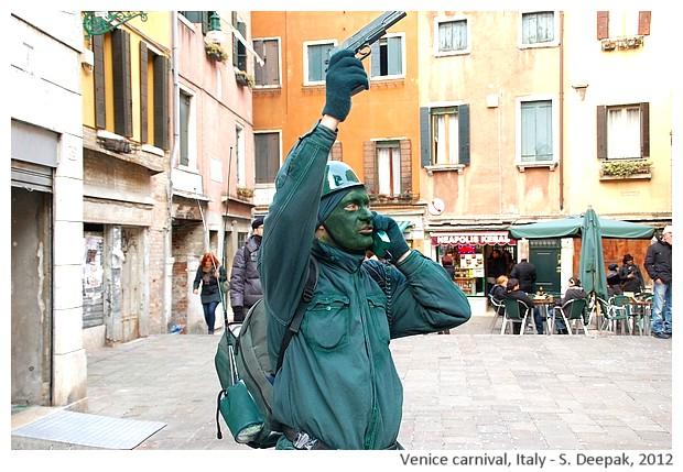 Terrorist costumes at Venice carnival, Italy - S. Deepak, 2013