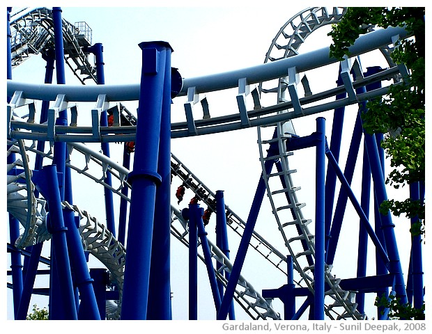 Gardaland amusement park, Verona, Italy - images by Sunil Deepak, 2008