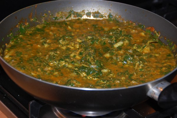 Broccoli and Spinach saag