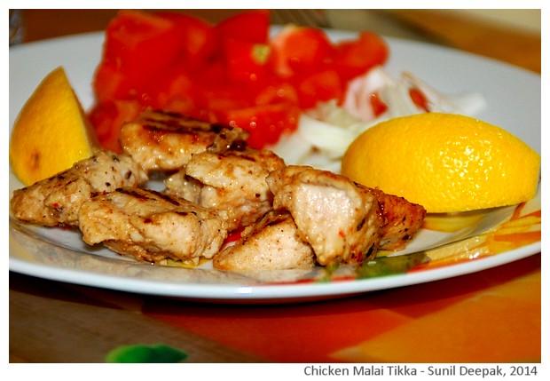 Chicken malai tikka - imagini di Sunil Deepak, 2014