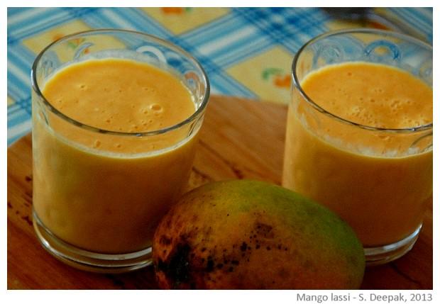 Mango lassi - images by Sunil Deepak