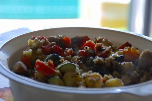 Verdure patate e peperoni