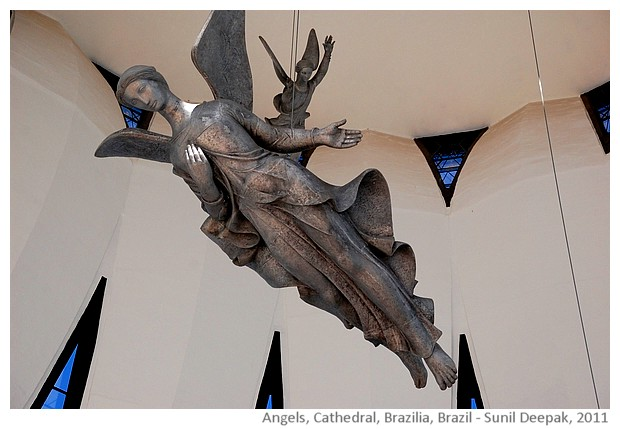 Angels, Cathedral, Brazilia, Brazil - images by Sunil Deepak, 2011