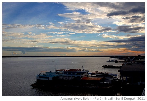 Boats & clouds, Amazon river,Belem, Parà, Brazil - images by Sunil Deepak, 2011
