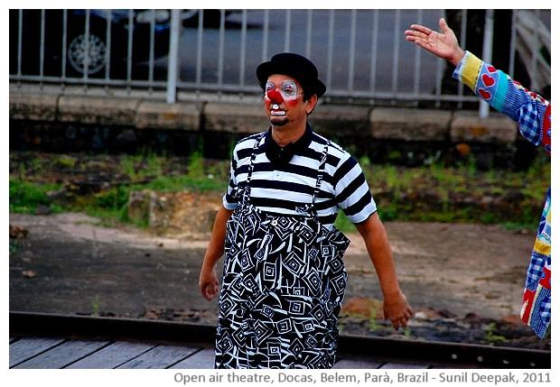 Open air theatre, Docas, Belem, Brazil - images by Sunil Deepak, 2014