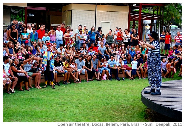 Open air theatre, Docas, Belem, Brazil - images by Sunil Deepak, 2014