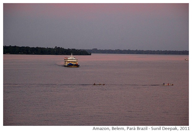 Boats, amazon river, Belem, Parà Brazil - images by Sunil Deepak, 2011