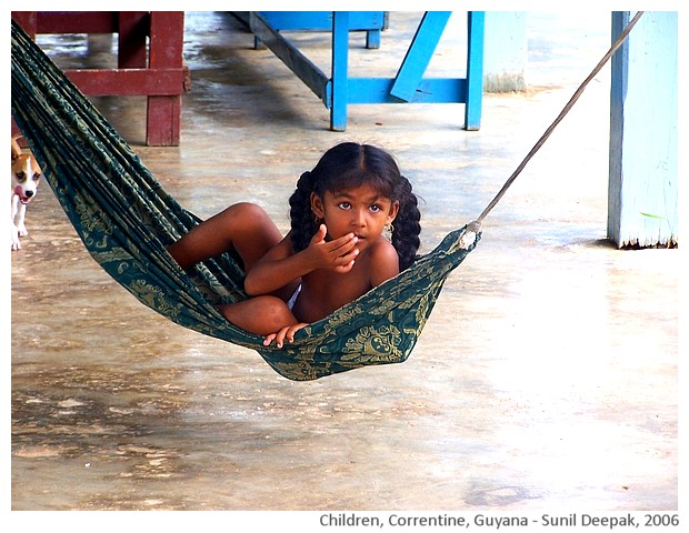 Children, Corentine, Guyana - images by Sunil Deepak, 2006