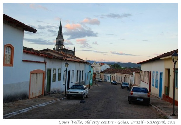 Old city centre in Goias Velho, Brazil - images by S. Deepak