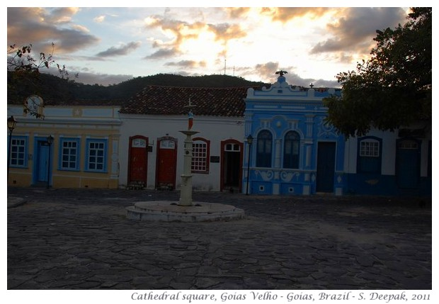 Cathedral square, Goias Velho, Goias, Brazil - images by S. Deepak