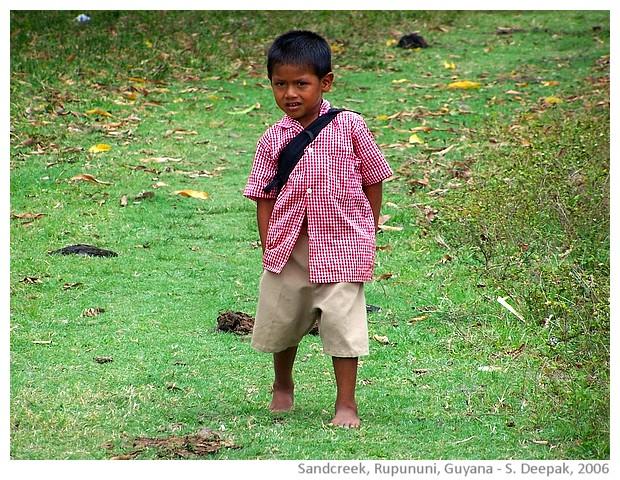 Sandcreek, Rupununi, Guyana - images by Sunil Deepak, 2006