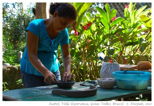 Potter Isabel making a bowl - S. Deepak, 2011