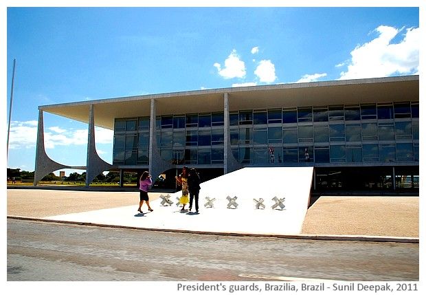 President's guards, Brazilia, Brazil - images by Sunil Deepak, 2011