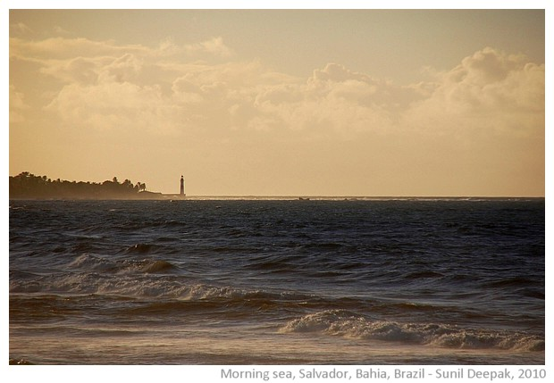 Windy morning on coast of Salvador, Bahia, Brazil - images by Sunil Deepak, 2010