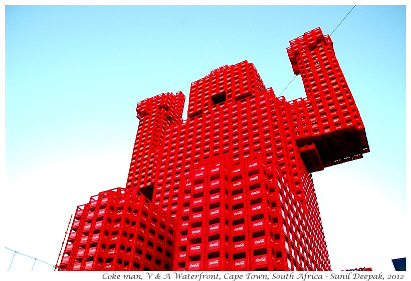 Sculpture with coke crates, Cape Town, South Africa - Images by Sunil Deepak