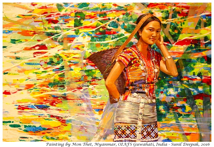 Painting of Mon Thet, Myanmar - Images by Sunil Deepak