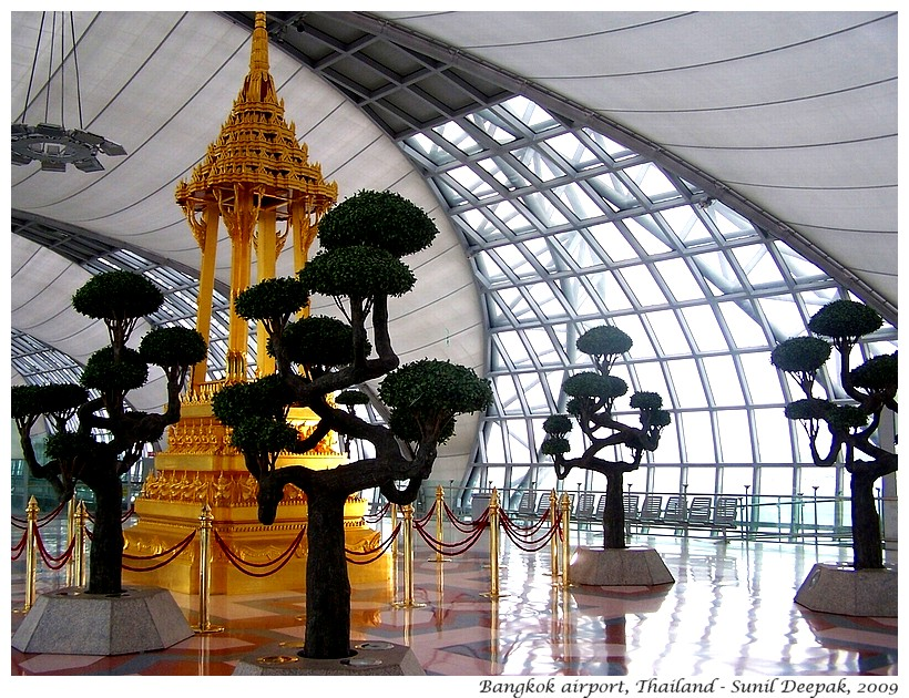 Art, Bangkok airport, Thailand - Images by Sunil Deepak