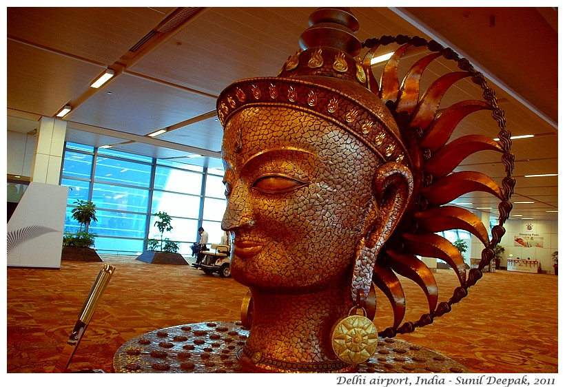 Art, Delhi airport, India - Images by Sunil Deepak