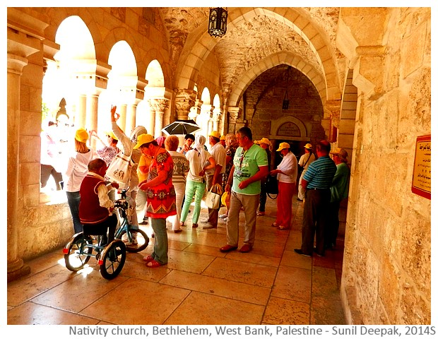Pilgrims, Nativity church, Bethlehem - Images by Sunil Deepak, 2014