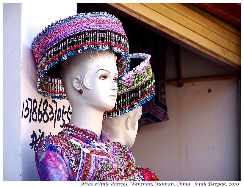 Miao ethnic dress market, Wenshan, Yunnan, China - Images by Sunil Deepak