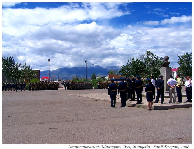 Military ceremony, Ulaangom, Uvs, Mongolia - Images by Sunil Deepak