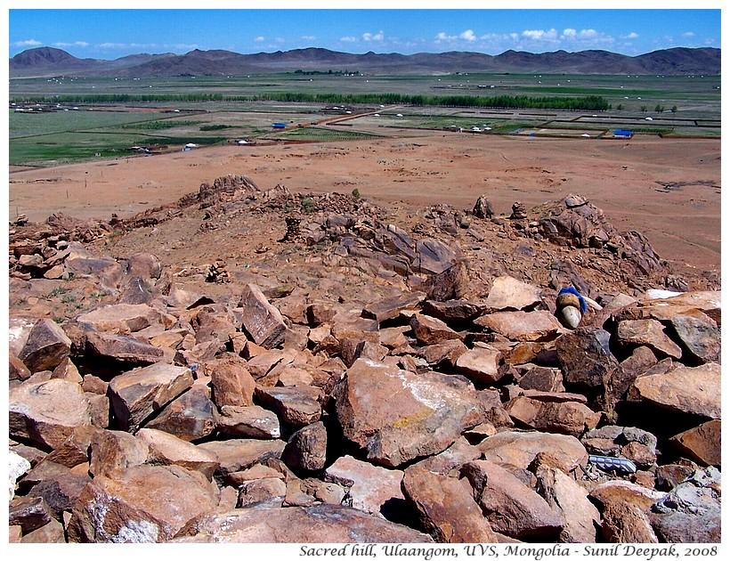 Sacred hill, Ulaangom, Uvs, Mongolia - Images by Sunil Deepak