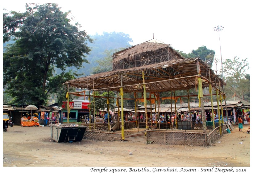 Bihu building at Basistha temple, Guwahati, Assam, India