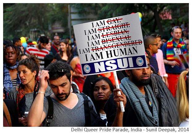Delhi Queer Pride Parade 2014, India - Images by Sunil Deepak 2014