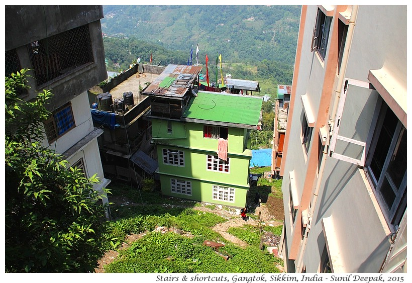 Stairs as short cuts in Gangtok