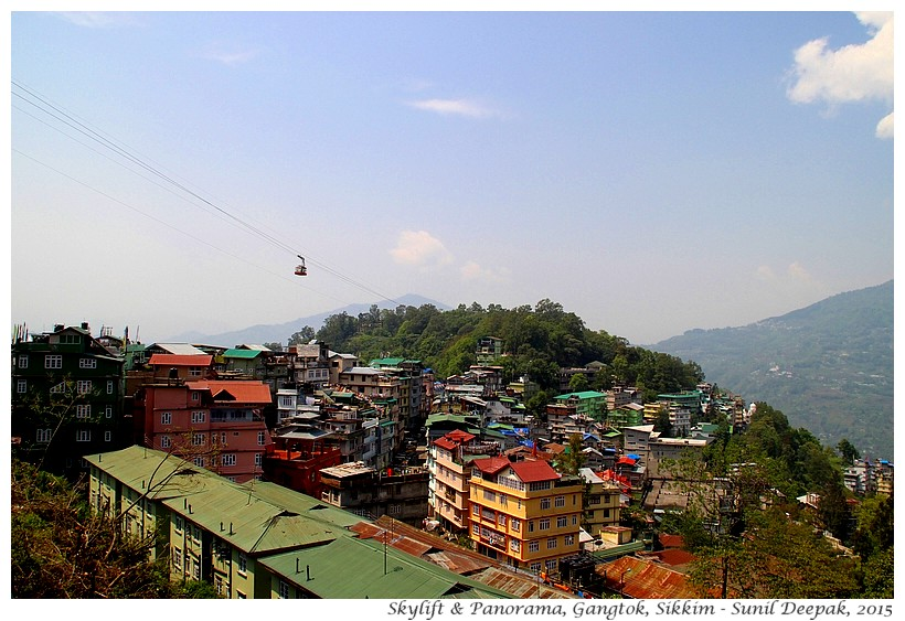 Sky lift panorama, Gangtok, Sikkim, India - Images by Sunil Deepak