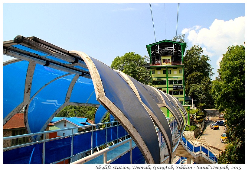 Sky lift station, Gangtok, Sikkim, India - Images by Sunil Deepak