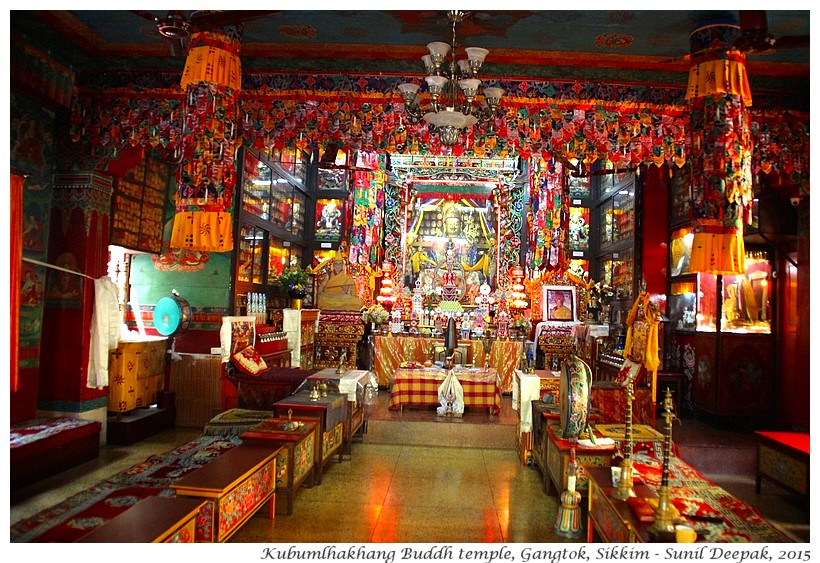 Kubumlhakhang temple, Gangtok, Sikkim, India - Images by Sunil Deepak