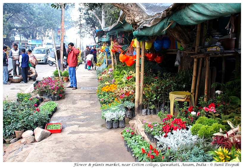 Uzan Bazar and Guwahati city centre, images by Sunil Deepak