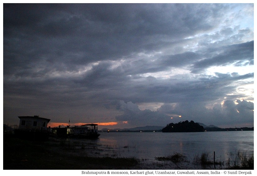 Brahmaputra at Kachari ghat in monsoon