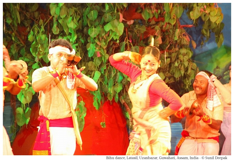 Bihu dance, Latasil grounds, Guwahati, Assam, India