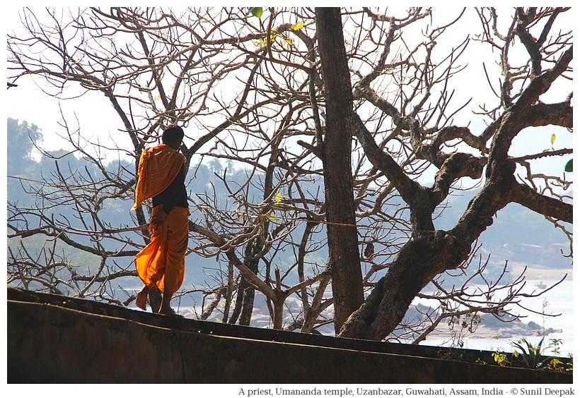 A Brahmin priest, Umananda, Guwahati, Assam, India
