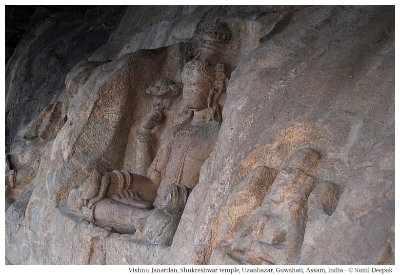 Vishnu Janardan, Rock-cut sculptures, Guwahati, Assam, India