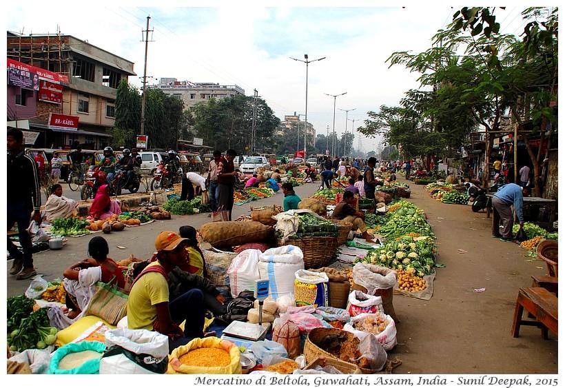 Mercato dei contadini Guwahati - Immagini di Sunil Deepak
