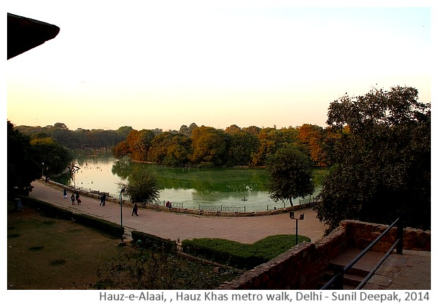 History & monuments of Delhi around Hauz Khas, India - Images by Sunil Deepak, 2014
