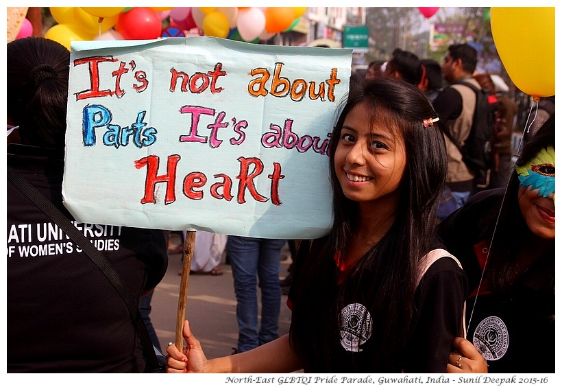GLBTQI Pride Parade, Guwahati, India - Images by Sunil Deepak