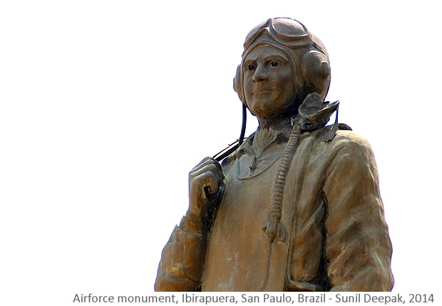 Air-force monument, San Paulo, Brazil - Images by Sunil Deepak, 2014