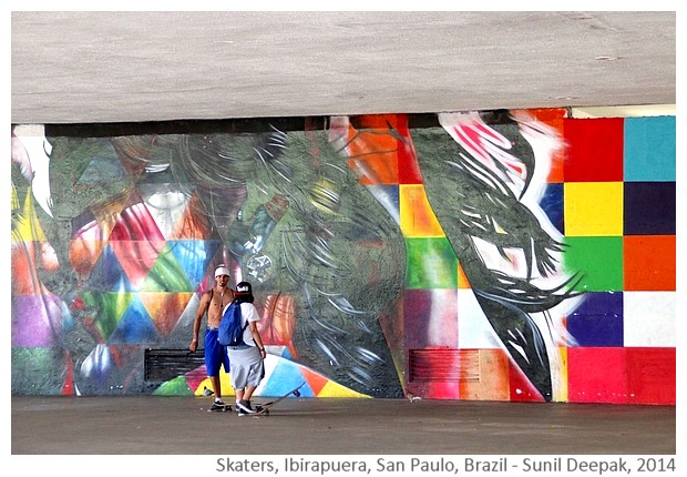 Skaters in Ibirapuera park, San Paulo, Brazil - Images by Sunil Deepak, 2014