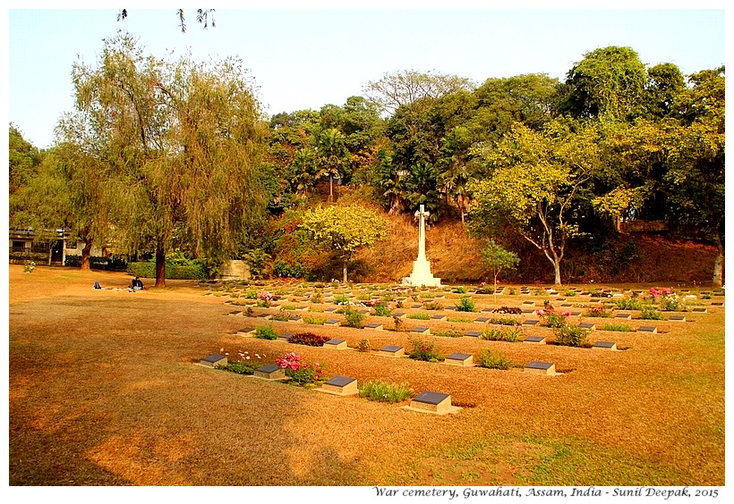 War cemetery, Guwahati, Assam, India - Images by Sunil Deepak